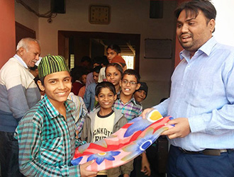 DONATION AT ORPHANAGE HOME